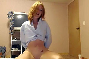 Perky redhead college girl on..