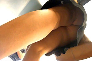 Juicy upskirt panties in..